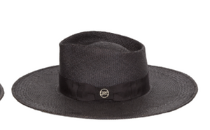 Canon Black Panama Straw Hat - Millo Jewelry