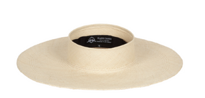 Beverly Cream Panama Straw Visor