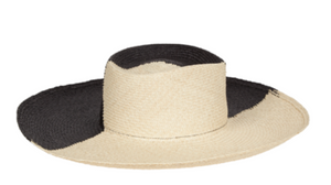Dury Lane Black and Cream Panama Straw Hat - Millo Jewelry