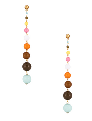 Enamel Ball Drop Earrings - Millo Jewelry
