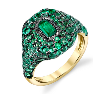 "Shay Fine Jewelry ""Pave Emerald Pinky Ring"" - Millo Jewelry"
