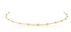 14K Rose Gold Diamond Cut Beaded Chain Necklace
