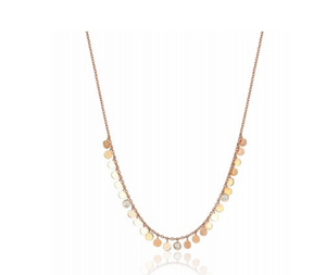 "Kismet By Milka ""Dangle Circles Necklace Short"" - Millo Jewelry"