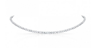 14K Gold Diamond Cut Bead Choker - Millo Jewelry