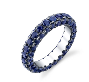 "Shay Fine Jewelry ""3 Sided Gemstone Eternity Band"""