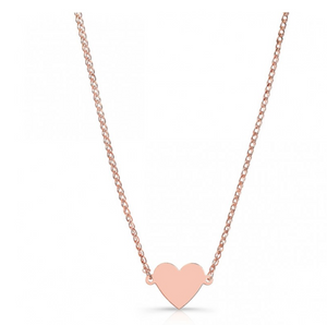 Floating Heart Necklace 14K