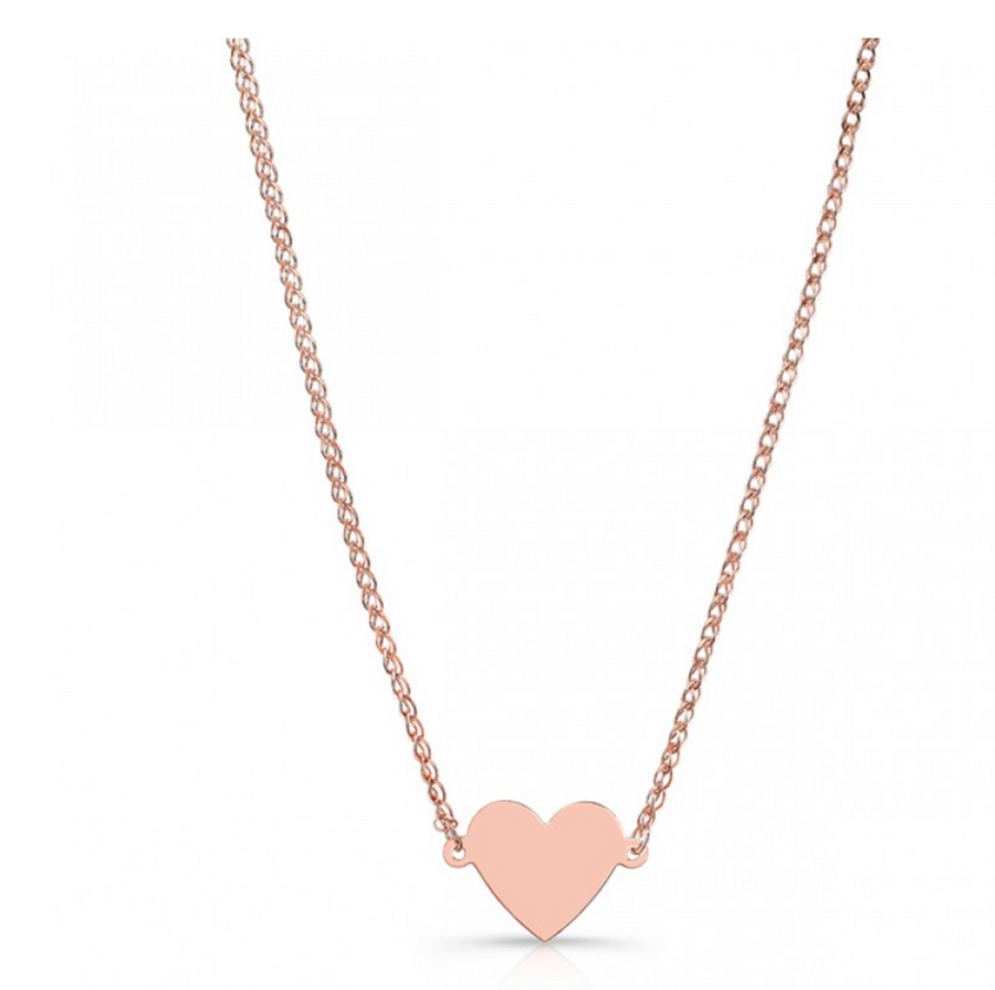 14K Floating Heart Necklace - Millo Jewelry