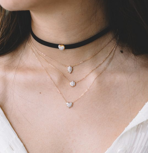 "Carbon And Hyde ""Heart Choker Chain"""