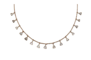 "Jacquie Aiche ""Trillion Diamond Shaker Necklace"" - Millo Jewelry"