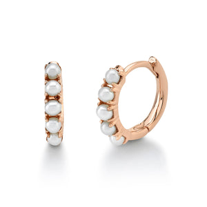 CULTURED PEARL HUGGIE EARRING - Millo Jewelry