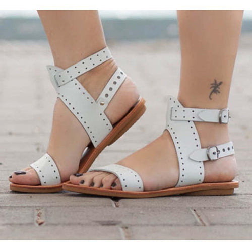 Women Stylish Chic Style Flat Heel Oversized Sandals