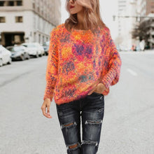 Bat Sleeve Fur Warm Knitted Pullover Women Sweater