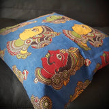 Naatya Kalamkari print cushion cover