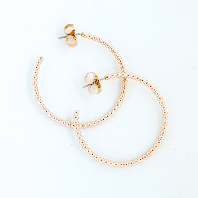 Small Gold Ball Hoops