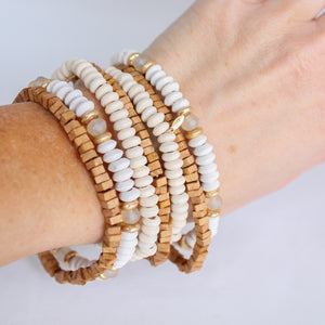 Neutral Wood Bracelet Stack