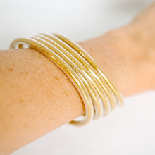 Load image into Gallery viewer, Lightweight Gold Bangles