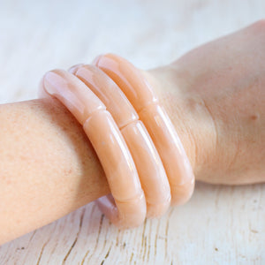 Marbled Beige Stackable Bracelet