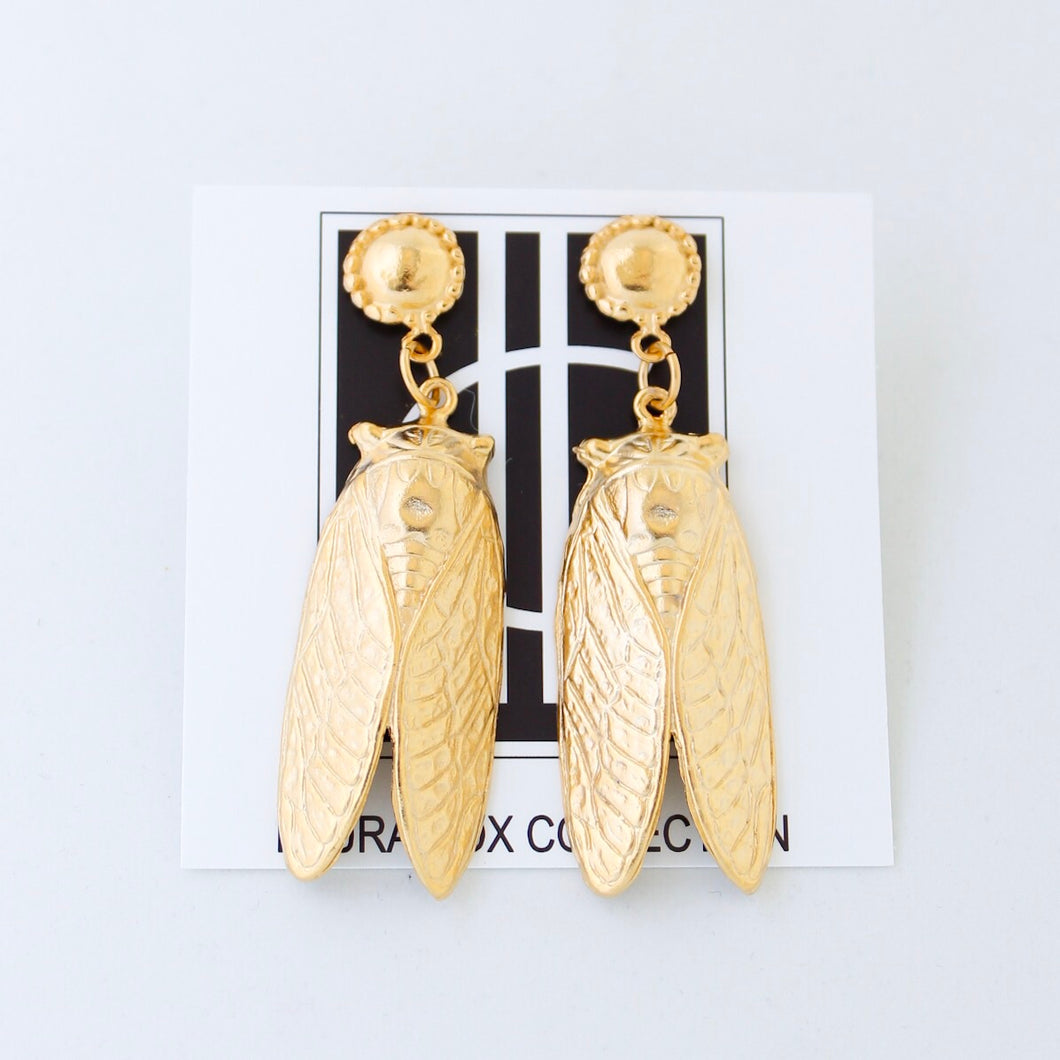 Gold Bug Earrings