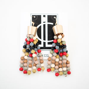 Earth Tone Beaded Tassels