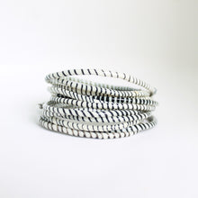 Load image into Gallery viewer, White and Black Live-In Bangles