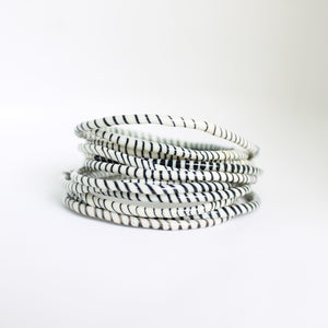White and Black Live-In Bangles
