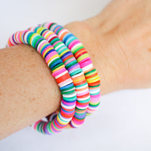 Load image into Gallery viewer, Heishi Bead Bracelet- Brights