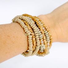 Load image into Gallery viewer, Camel Wood Bracelet Stack