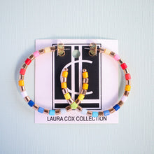 Load image into Gallery viewer, Beaded Rainbow Hoops