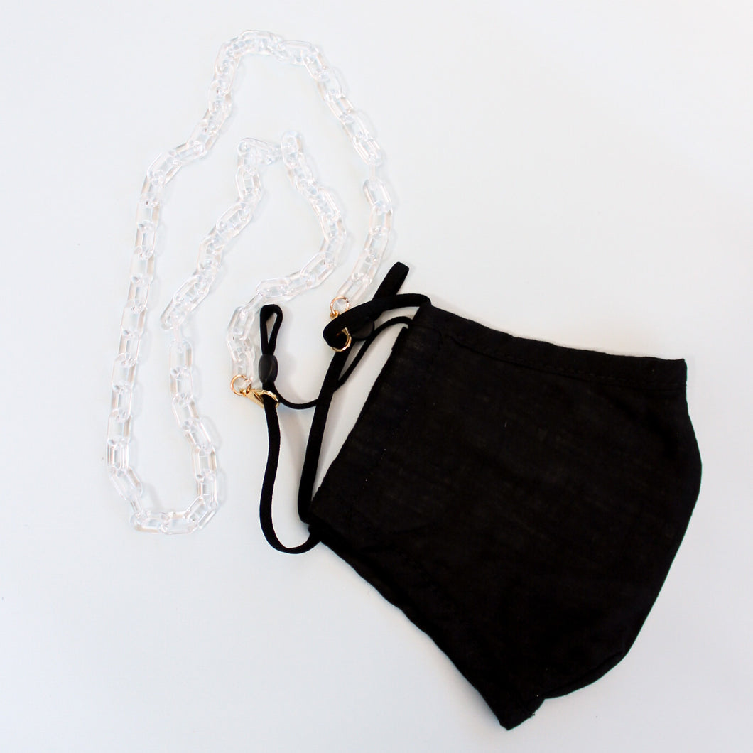 Clear Acrylic Mask Chain