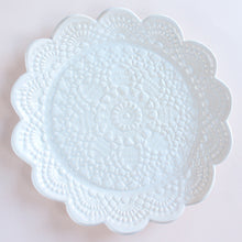 Load image into Gallery viewer, Handmade Scalloped Lace Plate