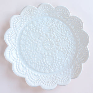 Handmade Scalloped Lace Plate