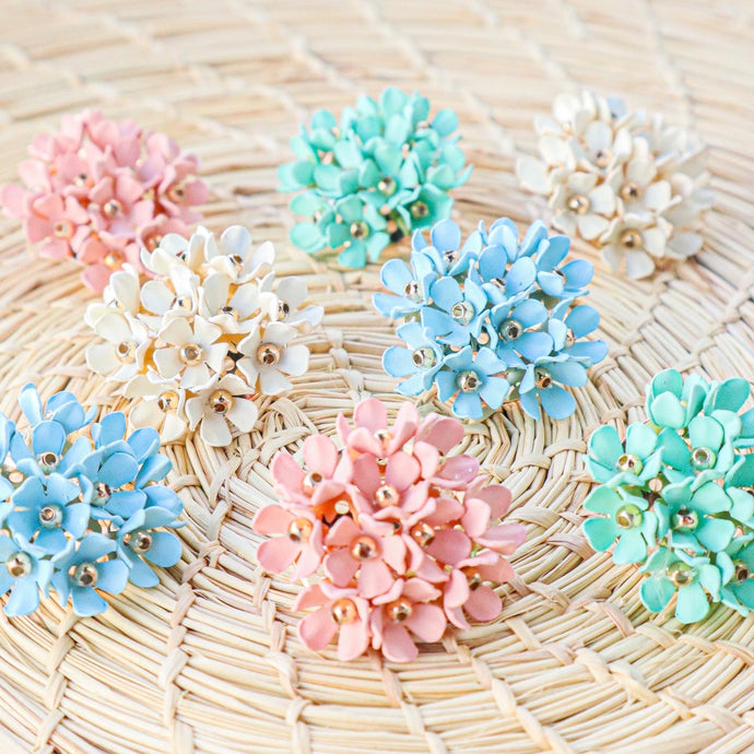 Hydrangea Studs (Four Colors Available)