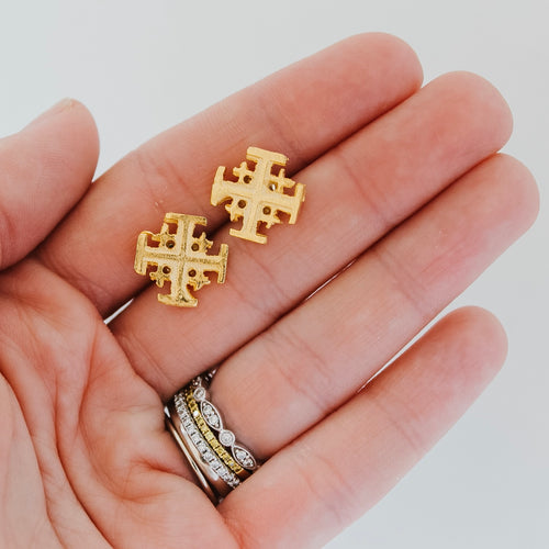 Earring of the Month: Jerusalem Cross Studs