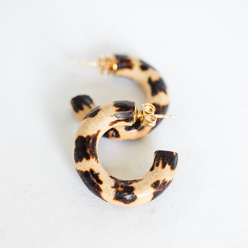 DAY 1: Leopard Huggie Hoops