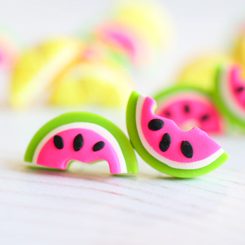 Watermelon Wedge Studs