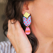 Load image into Gallery viewer, Bright Pattern Play Earrings