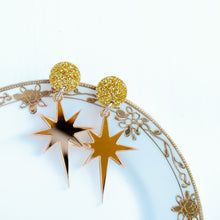 Load image into Gallery viewer, PREORDER- Acrylic Star of Bethlehem Earrings
