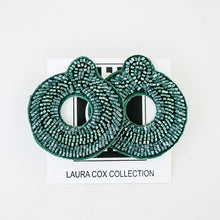 Load image into Gallery viewer, Hunter Green Beaded Studs