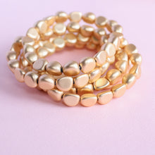 Load image into Gallery viewer, Matte Gold Bracelet Stack