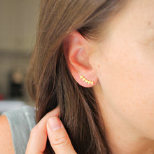 Load image into Gallery viewer, Gold Triangle Ear Crawler Studs