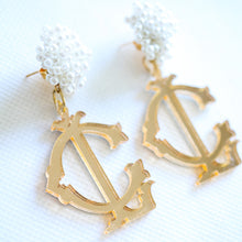 Load image into Gallery viewer, Custom Monogram Earrings
