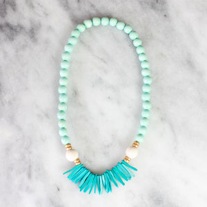 Children's Build Your Own Necklace Kit- Mint and Teal