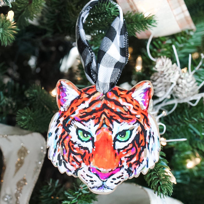 Tiger Face Ornament