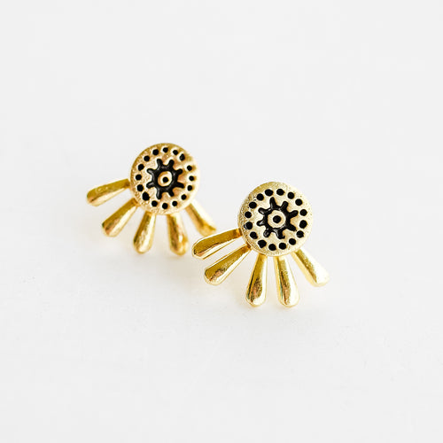 Gold Sunshine Studs