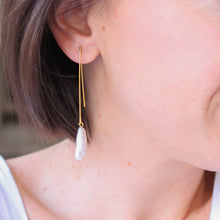 Load image into Gallery viewer, Freshwater Pearl Drop Earrings
