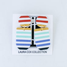 Load image into Gallery viewer, Autumn Rainbow Stripe Earrings