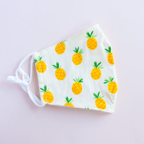 Pineapple Print Adjustable Face Mask