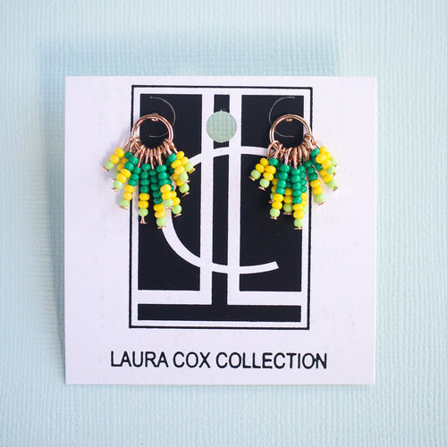 Green and Yellow Fringe Studs