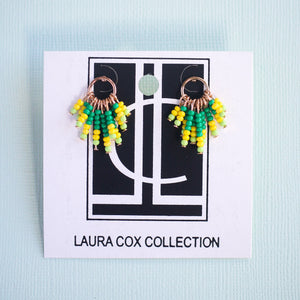 Yellow Fringe Statement Studs