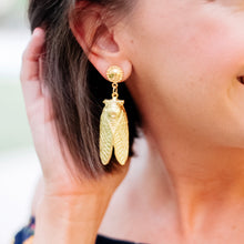 Load image into Gallery viewer, Gold Bug Earrings